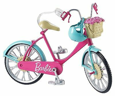 New Mattel Barbie Pink Bicycle Bike Toy For Dolls & Accessories Age 3+