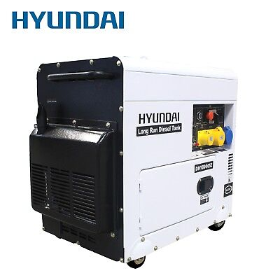 Hyundai Generator Diesel Back up power 6w silenced Home and Business DHY8000SELR