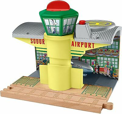 New Thomas & Friends Wooden Railway Sodor Airport Hangar Toy Playset