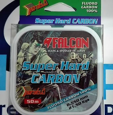 FALCON FLUOROCARBON 100% SUPER HARD CARBON 50m - 21,50 Kgs - 0,550mm