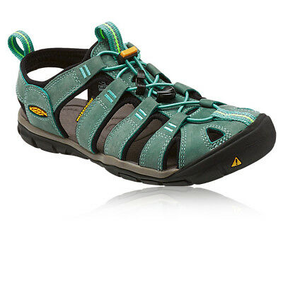 Keen Clearwater CNX Leather Womens Blue Walking Slip On Sandals