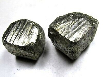 PYRITE x 2 NATURAL MINED UNTREATED SPECIMENS TOTAL 72g [360Ct]  PMF4673