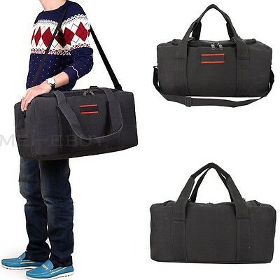 "22"" Men's Canvas Gym Duffle Shoulder Bag Tote Travel Carry-on Luggage Handbag US"