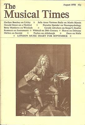 THE MUSICAL TIMES - AUGUST 1978 - VOL. CXIX No. 1626
