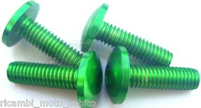 Kit Di Viti Parafango In Ergal Bolt Screw Verde Kawasaki Z750 Z 750 2010- 2014