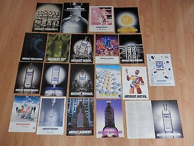 Lot of 20 Print Ads, Absolut Vodka