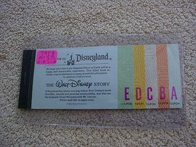 Disneyland Vintage Ticket 1979 Booklet With --- All 15 Tickets Attached  *4