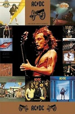 AC/DC ~ CANNONS ALBUM COVERS 24x36 MUSIC POSTER NEW/ROLLED! Back in Black