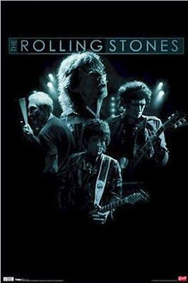 THE ROLLING STONES ~ SHADOWS GROUP 22x34 MUSIC POSTER Mick Jagger Keith Richards