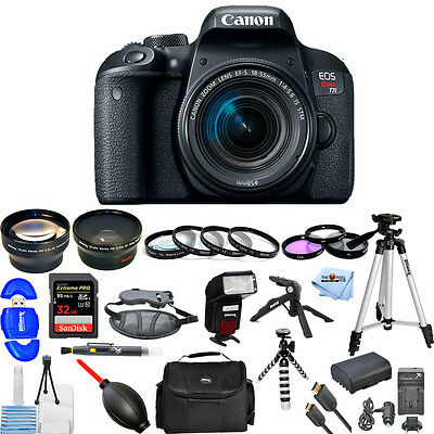 Canon EOS Rebel T7i DSLR Camera with 18-55mm Lens!! USA MODEL PRO BUNDLE NEW!!