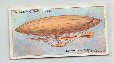 1910 AIRSHIP Card German Military Dirigibles Gross Type
