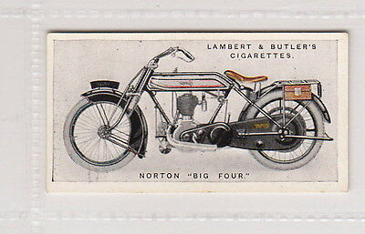 "Vintage 1923 Motorcycle Card NORTON ""BIG FOUR"""