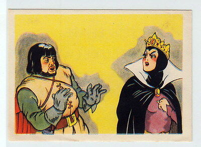 Vintage 1940 Snow White and the Seven Dwarfs Card #14 EVIL QUEEN & the HUNSTMAN