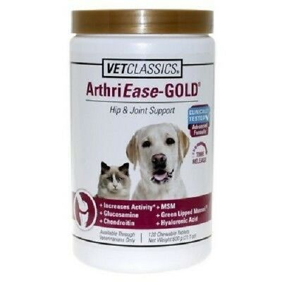 VetClassic ArthriEase GOLD Dog & Cat Hip & Joint Support 90 Chewable Tablets