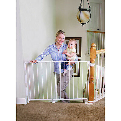 Charmant Regalo Extra Tall Top Of Stairs Gate, With Mounting Kit, White Baby Child  Safty 1 Of 5Only 2 ...