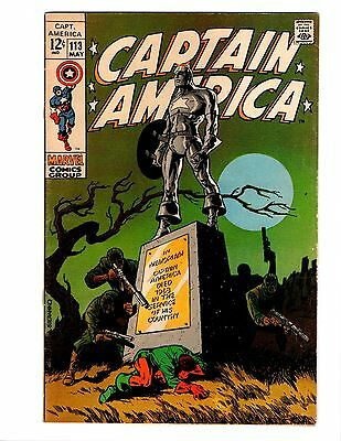 Captain America 113 Fn/vf Steranko Classic Incredible Art
