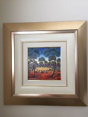 Original Art by Howard William Steer Oil on Canvas Title :Flying Doctor Drops In
