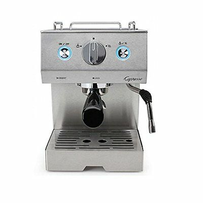 NEW Capresso CAFE PRO Model 125.05 Espresso and Cappuccino Machine Stainless