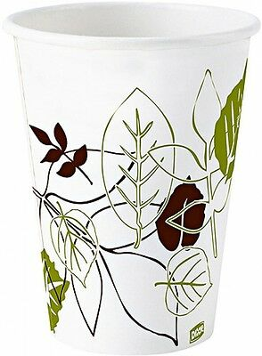 Wax Treated Cold Paper Cups Disposable Leaf Design Soak Resistant 5 Oz 2400 Ct