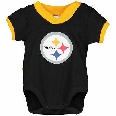 NFL TEAM APPAREL Pittsburgh Steelers Baby Girl's BOY Creeper Body Suit 0-3 MONTH