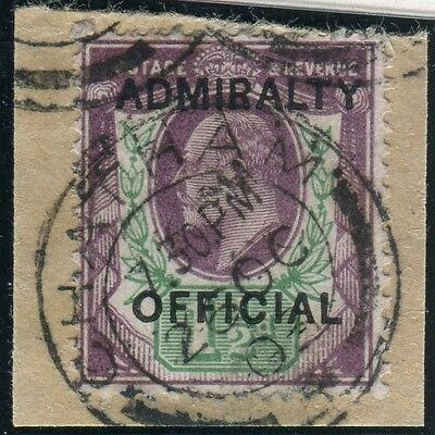 Sg O103 1½d Dull Purple & Green OVPT ADMIRALTY OFFICIAL.  Very fine used example