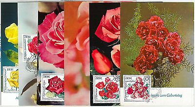 63563 -  GERMANY  DDR - POSTAL HISTORY: Set of 46 MAXIMUM CARD 1972 - FLOWERS