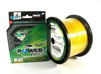 Power Pro Braided Spectra Line 50lb by 500yds Yellow (2624)