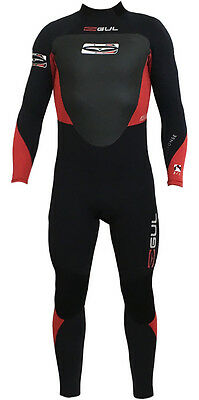Gul Mens Response 5/3Mm Wetsuit Neoprene Red Black Surfing Swimming 5Mm Diving