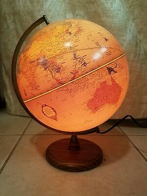 "George F. Cram 12"" Cram's Antique Light Up World Globe"