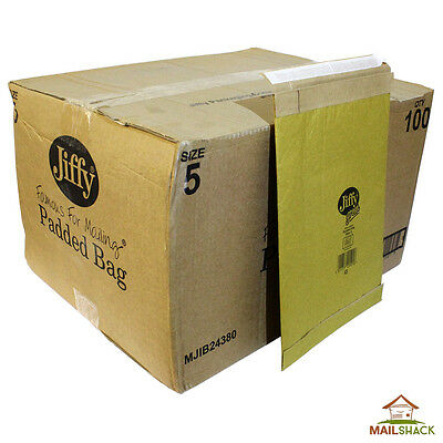 JIFFY Green Small Parcel Padded Envelopes Bags | Size 5 | 260 x 370mm