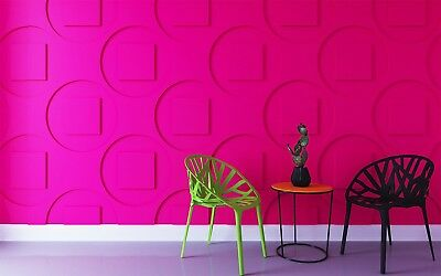 *TECHNO* 3D Decorative Wall Panels 1 pcs ABS Plastic mold for Plaster
