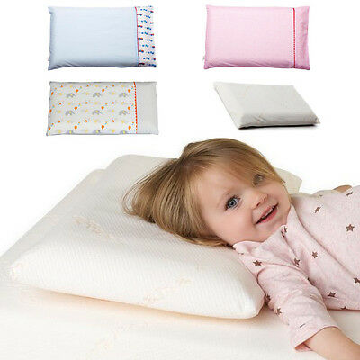 Clevamama Baby Toddler Pillow Memory Foam ClevaFoam Head Support with Case Cover