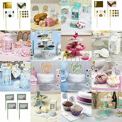Baby Shower Cake Decorations Topper Picks Stand Cake Cases Christening Boy Girl