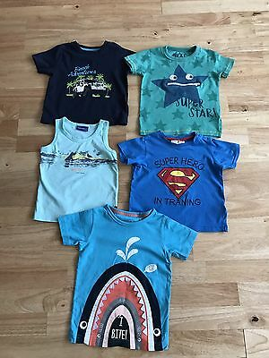 bundle baby boys t shirts summer tops age 18-24 months
