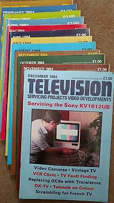Television Servicing Projects Video Developments Magazine 1984 (12 issues)