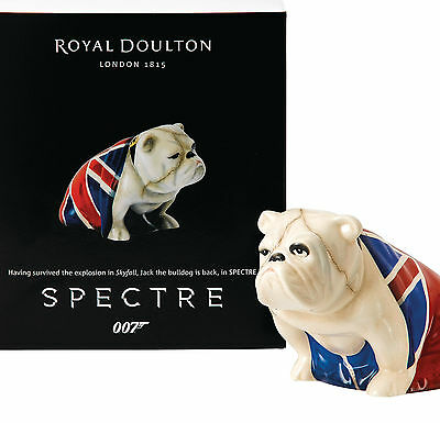 Royal Doulton Figurine Jack DD 007 Spectre Signed Bulldog Skyfall James Bond