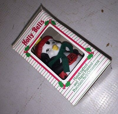 CHRISTMAS - Penguin Tree Ornaments - Holly Bells