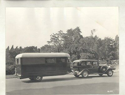 1933 Hudson Essex Terraplane 8 with Wolfe Travel Trailer ORIGINAL Photo ww8008