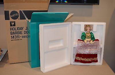 1995 Holiday Jewel Porcelain BARBIE - Original Box & Paperwork - Never Removed