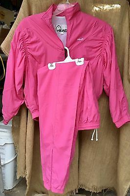 EUC VTG Head Sportswear Track Suit Women's XS 2 Piece Jacket Pants PINK Vintage
