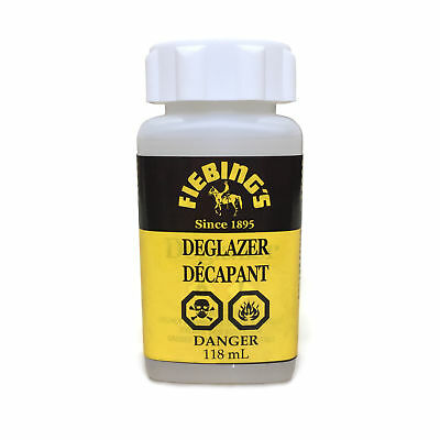 Fiebing's Deglazer 4 oz Bottle Leather Dyeing Strip Preparer
