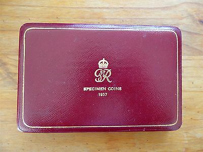 George VI Royal Mint Specimen Coins 1937 + Maundy Incomplete Boxed (myrefnBox3)