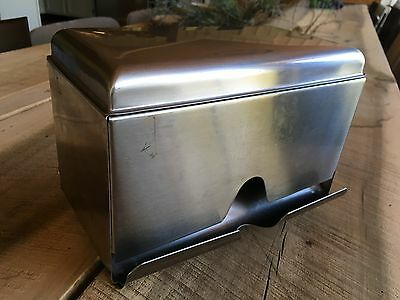 Vintage Halco Stainless Steel Wrapped Straw Dispenser - Double Sided Collectors