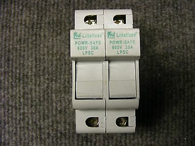 Littelfuse Powrsafe Fuse Holder Cat No. LPSC-ID 2 Pole 600v 30A Class CC Fuse