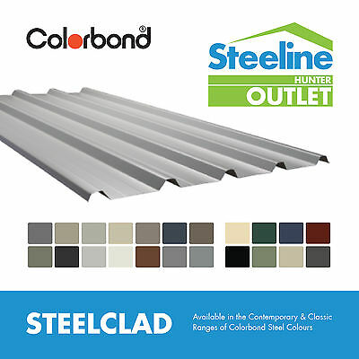 *SECONDS* Colorbond® Steelclad Roofing - Packs of 10 sheets, 1.5m