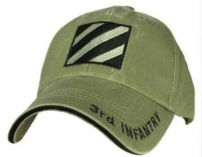 U.s.military Army 3Rd Infantry Division Hat Cap Baseball Style Od Green