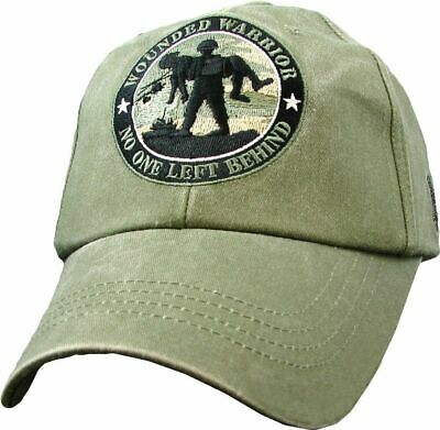 3ca87ce60e634 U.s Military Army Marine Corps Wounded Warrior Hat Cap Od Green Stone Washed