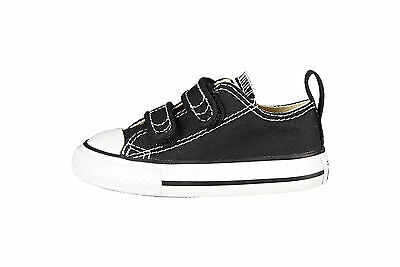 Converse Baby Babies Toddlers Infants Shoes All Star Chuck Strap Black Boys Girl