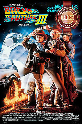 New Back To The Future 3 Iii Three Movie Original Classic Print Premium Poster