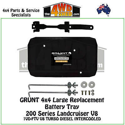 Grunt 4x4 Larger Replacement Battery Tray 200 Series Landcruiser V8 Diesel